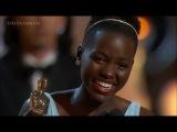 Лупита Нионго получает Оскар за лучшую женскую роль 2-ого плана в фильме